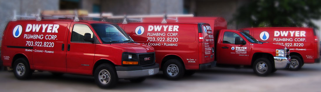 Dwyer Plumbing Red Trucks, Alexandria, VA